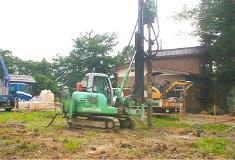 住宅の地盤調査・地盤改良工事